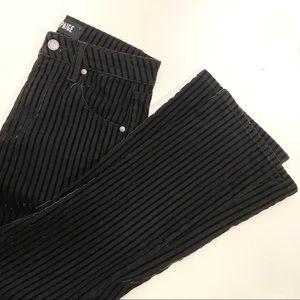 Paige Velvet Stripe Cropped Pants